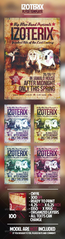 Izoterix Flyer Template - Concerts Events