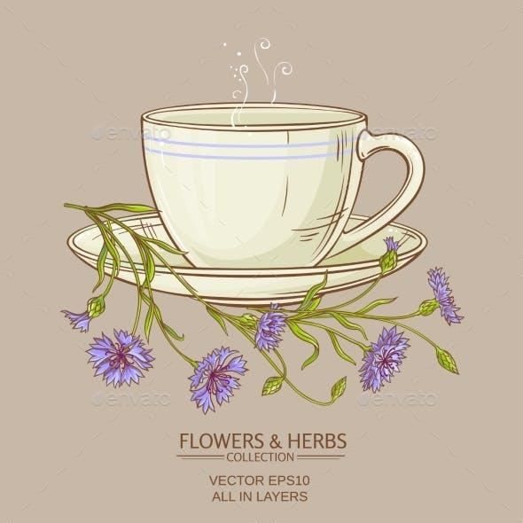 Cup of Corn Flower Tea