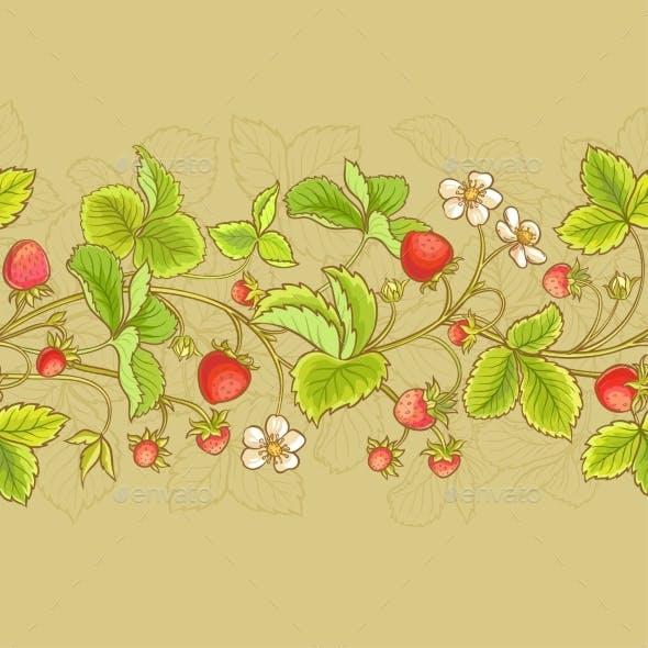Strawberry  Vector Seamless Pattern