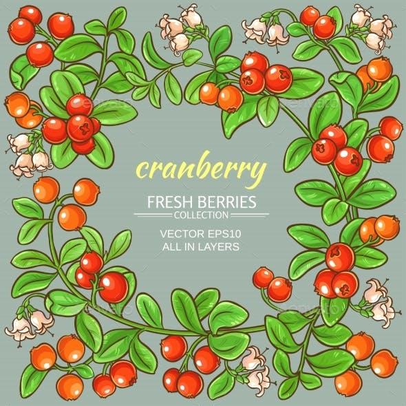 Cranberry Vector Frame