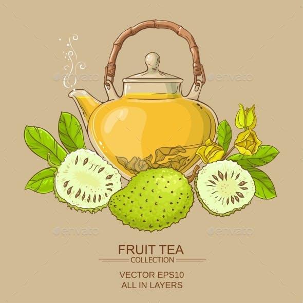 Soursop Tea Vector Illstraton