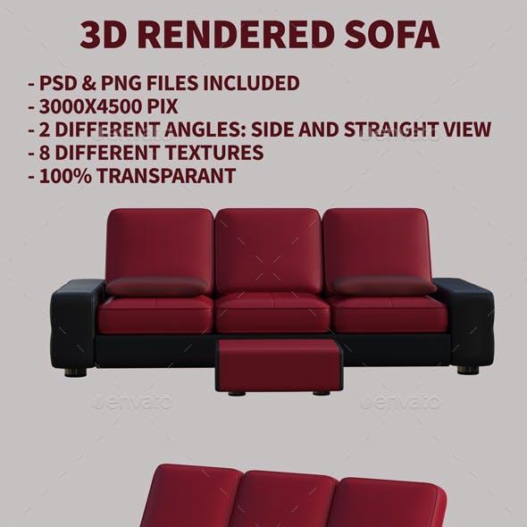 3D Rendered Sofas