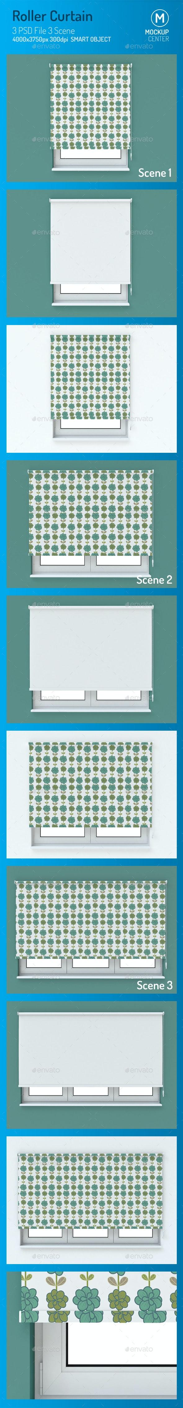 Roller Curtain Mockup - Print Product Mock-Ups