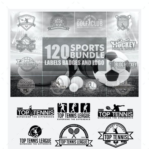 120 Sports Badges and Logo Bundle