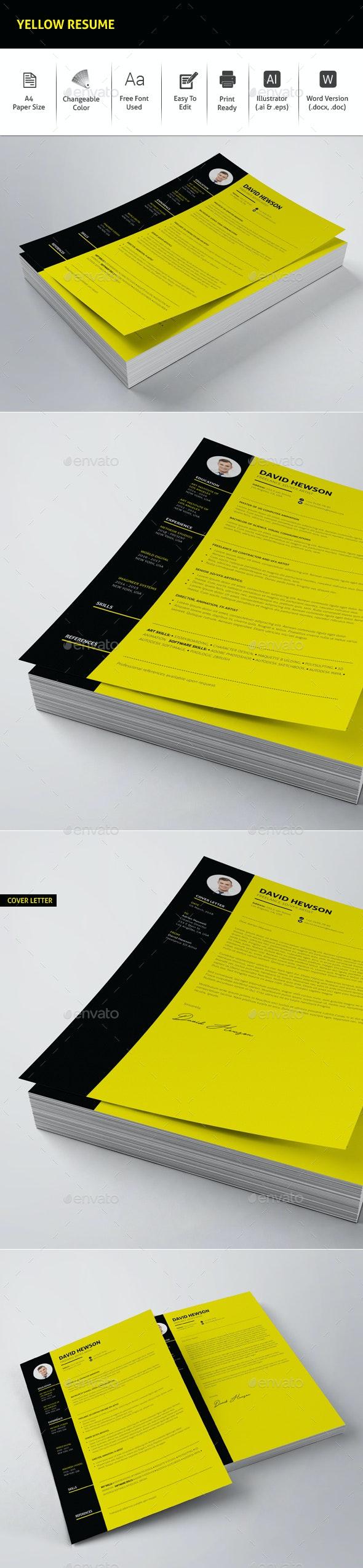 Yellow Resume - Resumes Stationery