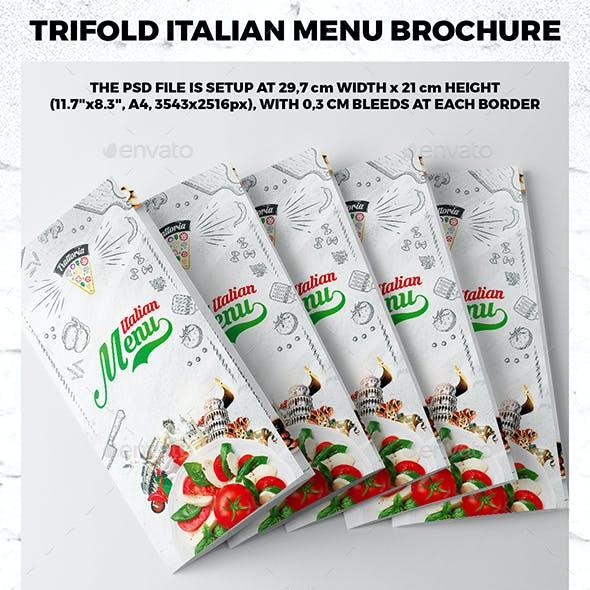 Trifold A4 Italian Menu Brochure vol.3