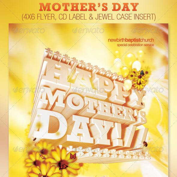 Mother's Day Church Flyer and CD Template