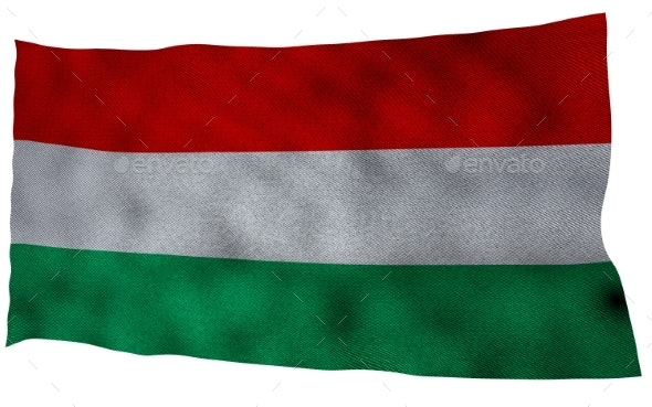 Hungary Flag with Fabric Texture - Miscellaneous 3D Renders