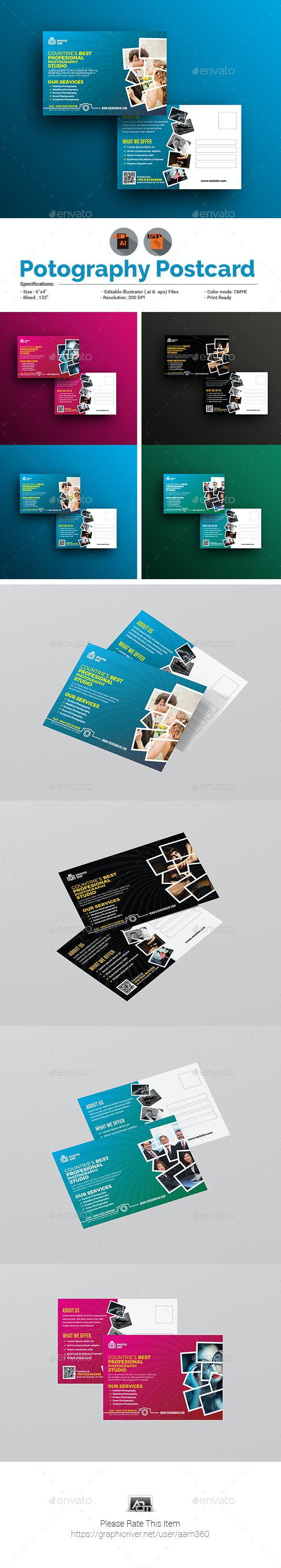 Photography/Photo Studio Postcard Template