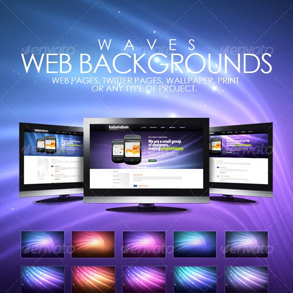 Wave Web Backgrounds