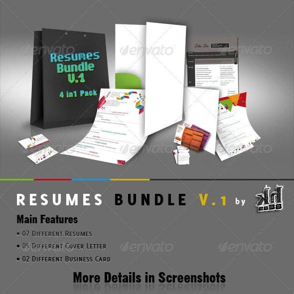 Resumes Bundle V.1  - Resumes Stationery