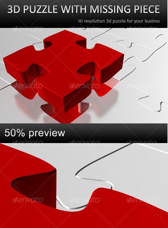 Puzzle missing piece - 3D Backgrounds