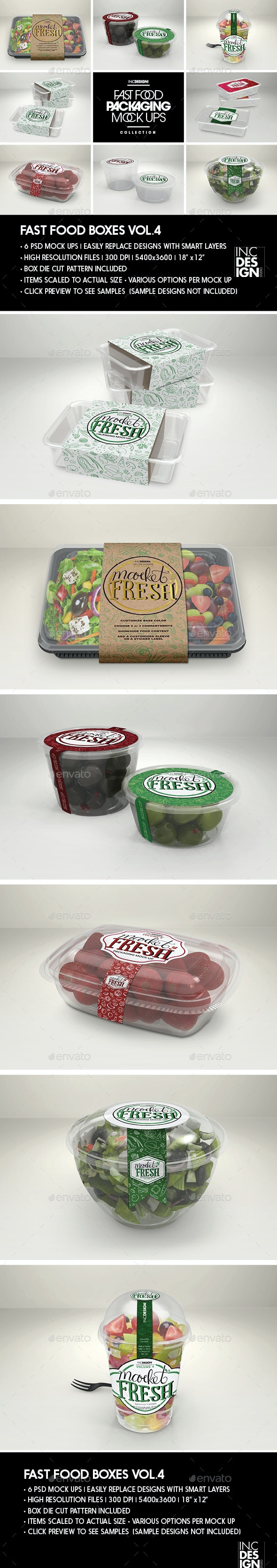 Fast Food Boxes Vol.4: Take Out Packaging Mock Ups - Food and Drink Packaging