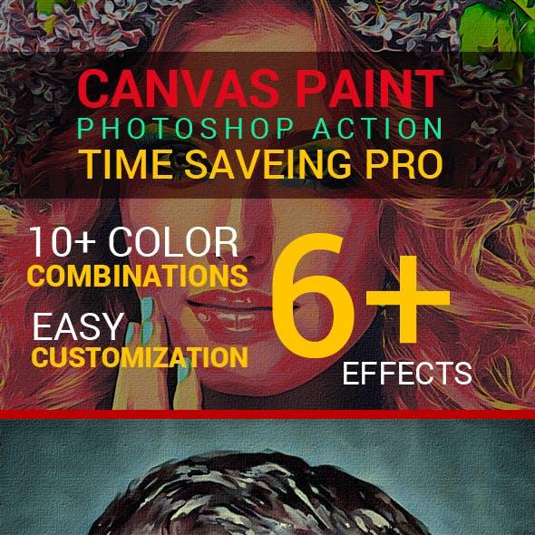 Canvas Paint Photoshop Action