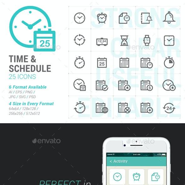 Time & Schedule Mini Icon