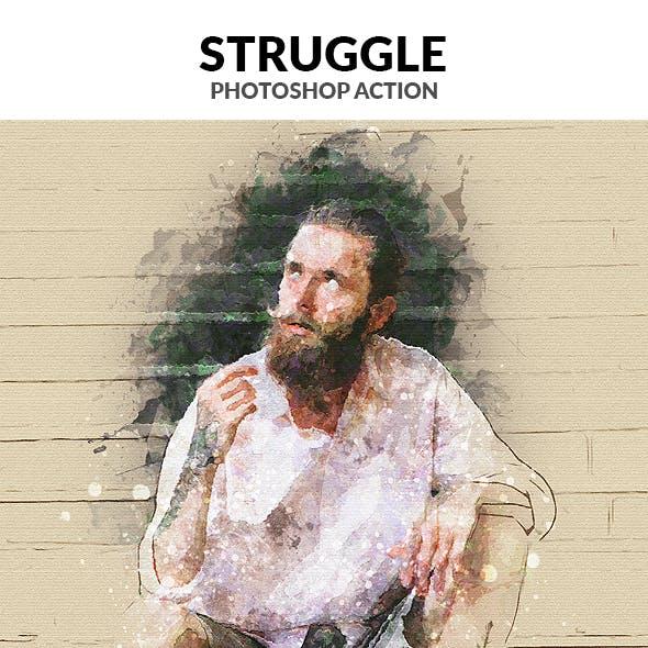 Struggle Photoshop Action