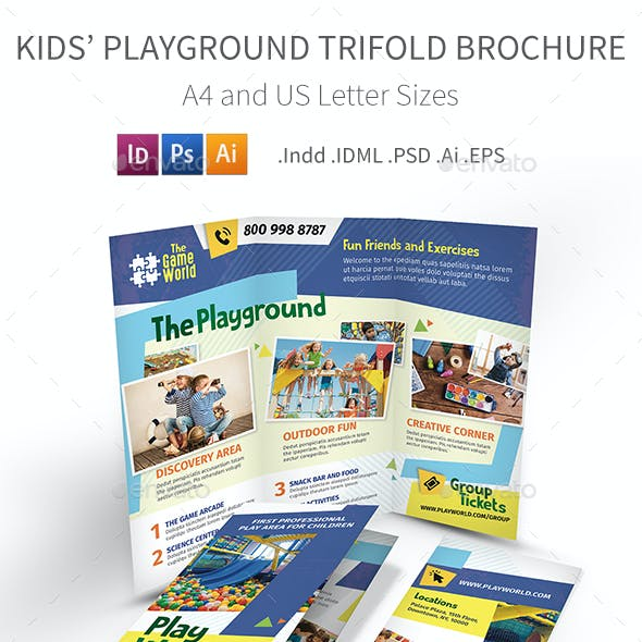 Kids' Playground Trifold Brochure