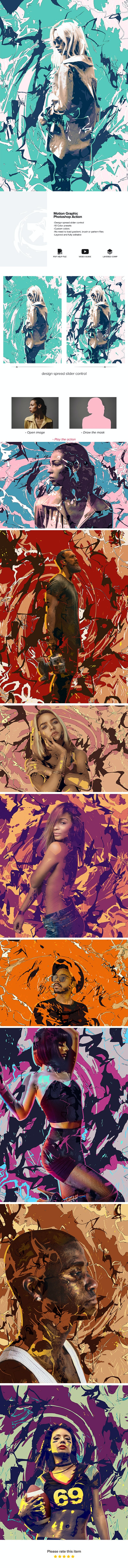 Motion Graphic Photoshop Action - Photo Effects Actions