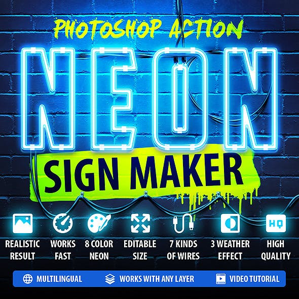Neon Sign Maker Photoshop Action