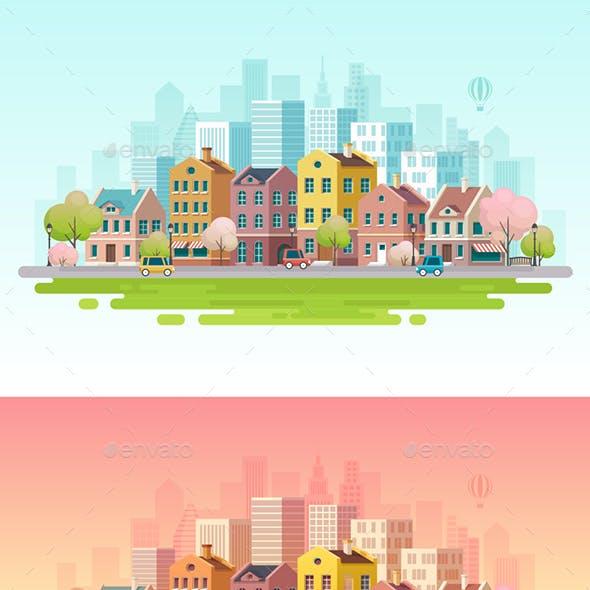 Urban Landscape Background.