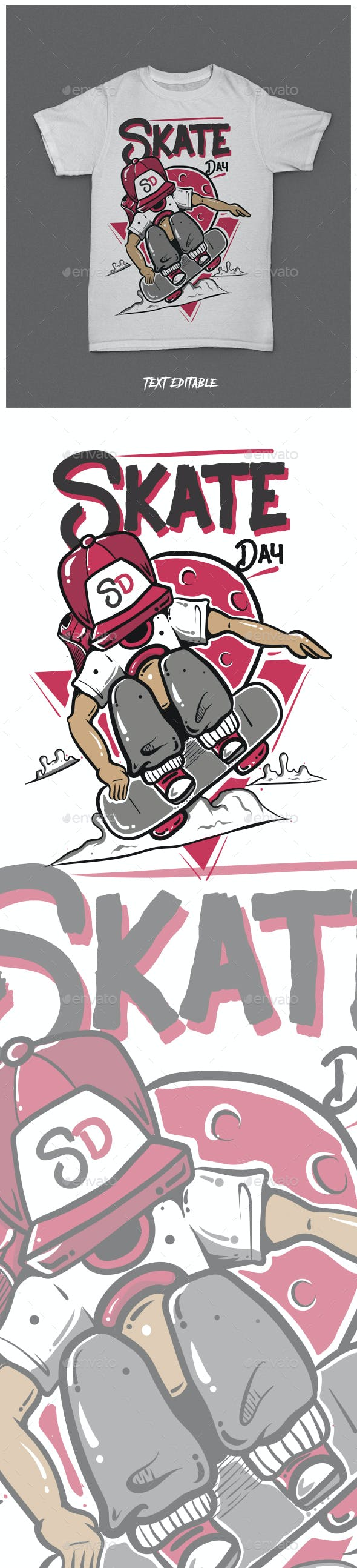 SkateBoard Day Tshirt Clothing