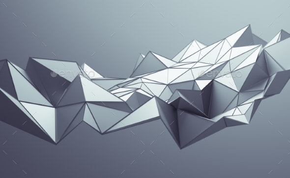 Abstract 3D Rendering of Polygonal Background - 3D Backgrounds