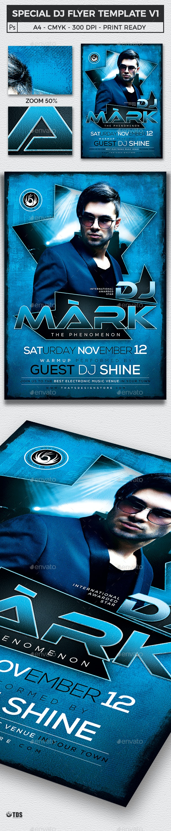 Special Dj Flyer Template V1 - Clubs & Parties Events