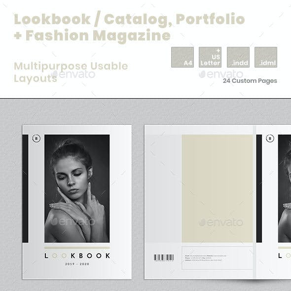 Lookbook / Catalog / Portfolio + Fashion Magazine Templates
