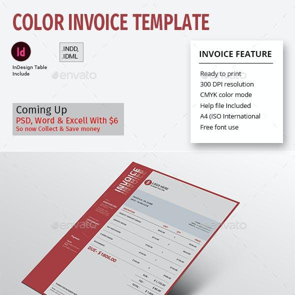 Color Invoice Template