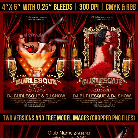 Burlesque Show Flyer Template