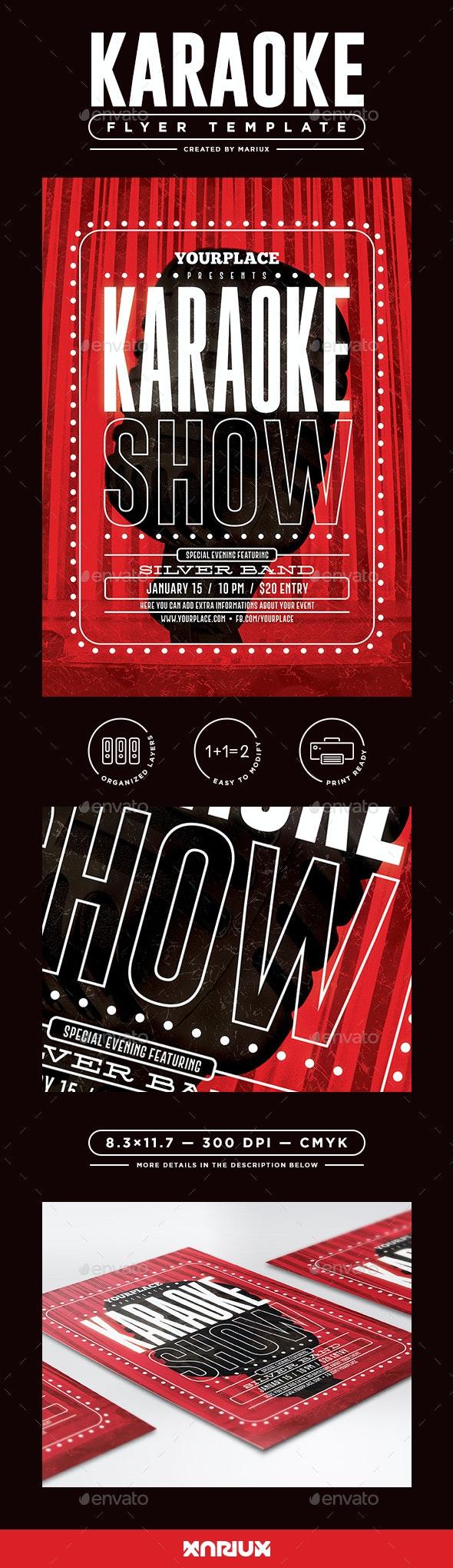Karaoke Party Flyer/Poster - Events Flyers