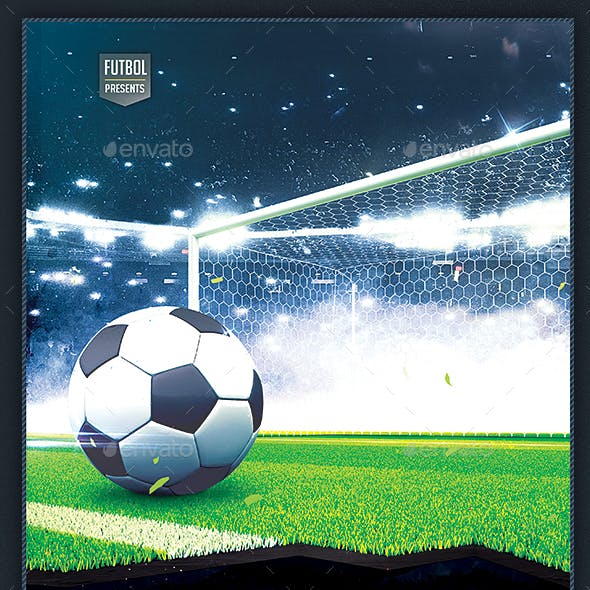 Soccer Flyer - Football / Futbol Poster 8.5x14 Design Template