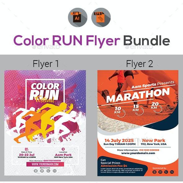 Color Run Event Flyers Bundle