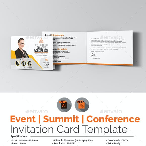Event/Conference Invitation Card Template