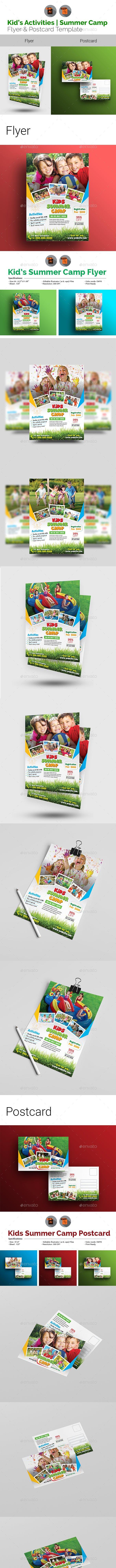 Kids Activities | Summer Camp Flyer & Postcard Bundle