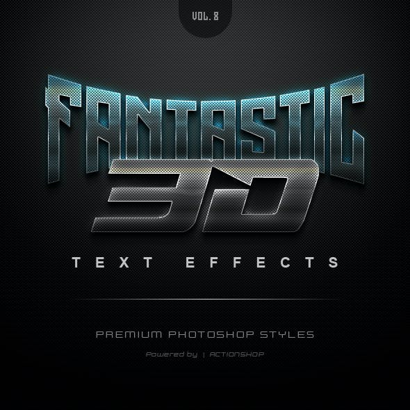 3D Text Effects Vol.8
