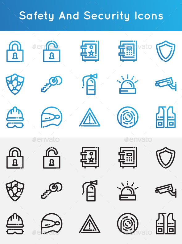 Safety and Security Icons