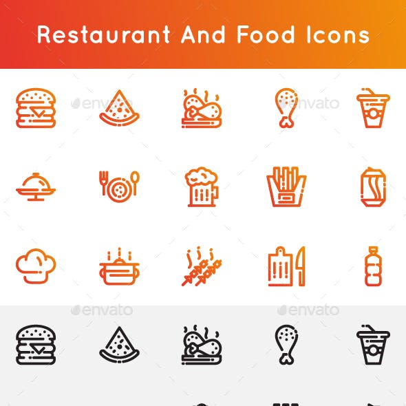 Restaurant and Foods Icons