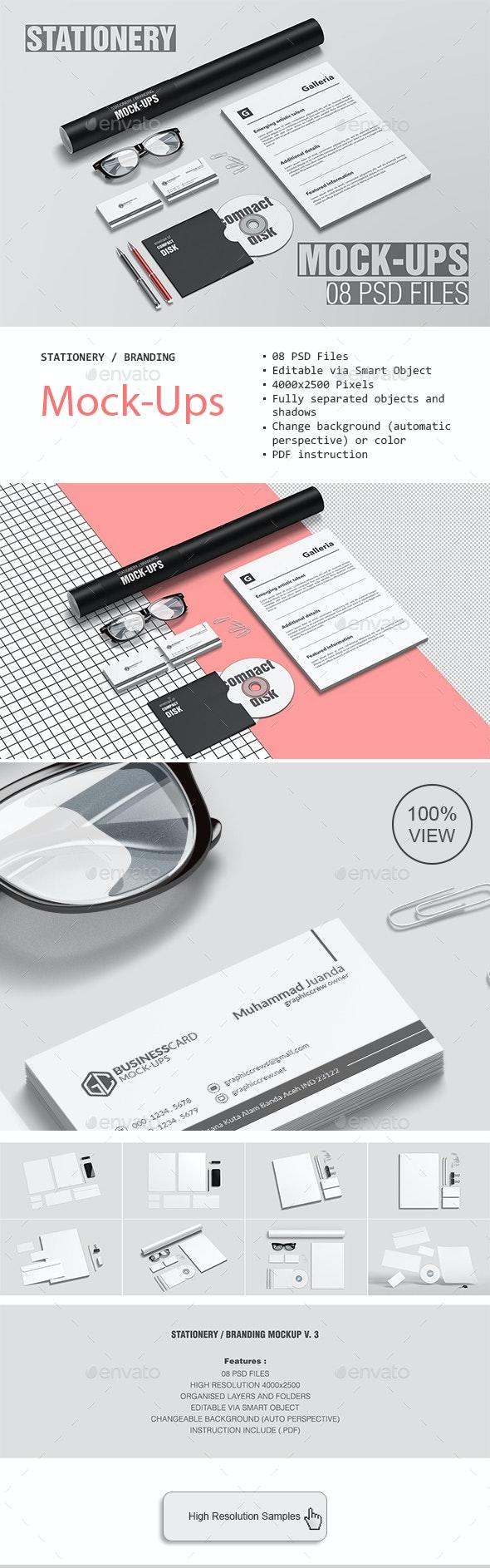 Stationery / Branding Mockup V. 3 - Stationery Print