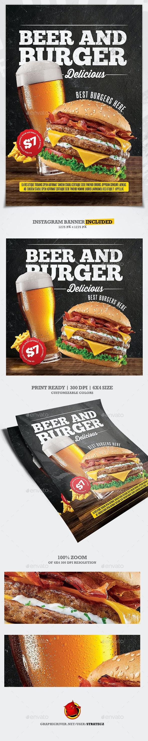 Burger Food Flyer / Burger House - Print Templates
