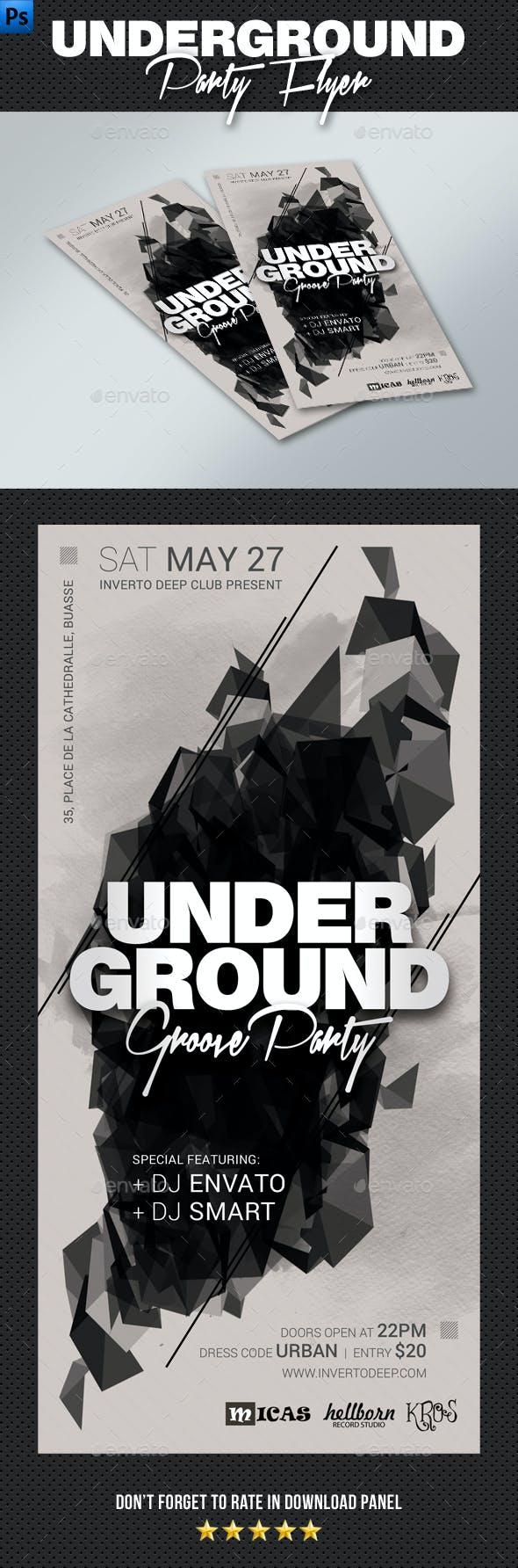 DL Underground Groove Flyer