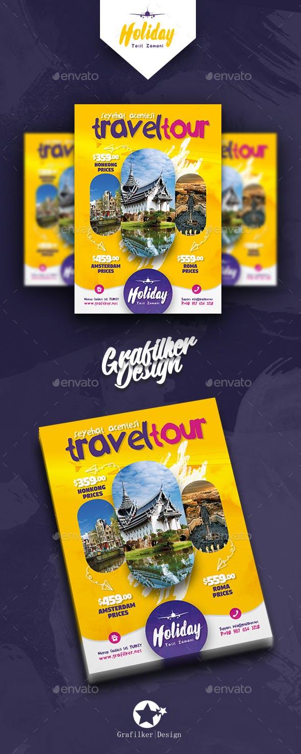 Travel Tours Flyer Templates