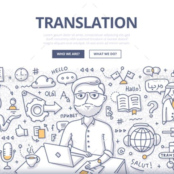 Translation Doodle Concept