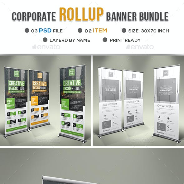 Corporate Roll Up Banner Bundle