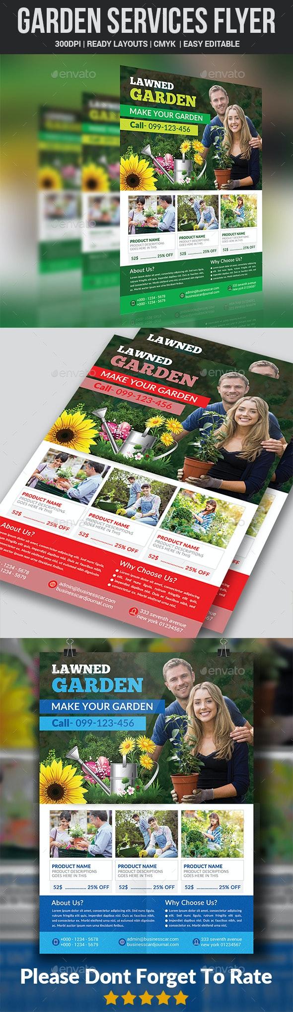 Garden Services Flyer Template - Commerce Flyers