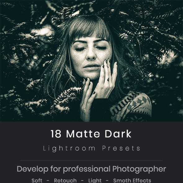 18 Matte Dark Lightroom Preset