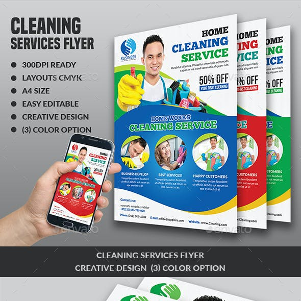 House Cleaning Specialist Flyer