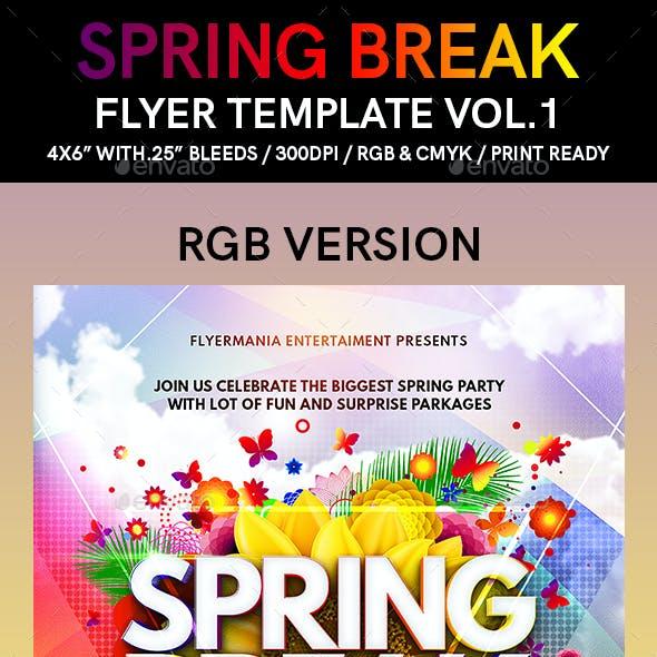 Spring Break Flyer Template Vol.1