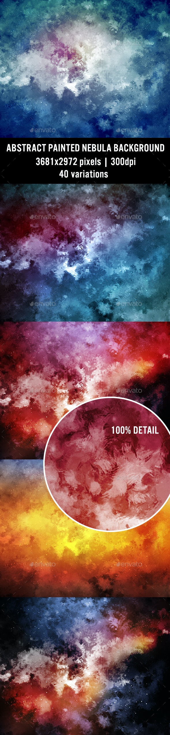 Abstract Painted Nebula Background - Abstract Backgrounds