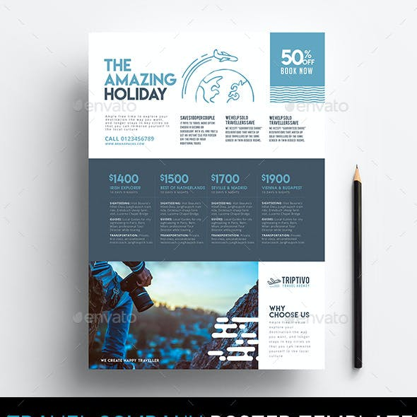 A4 Travel Company Poster/Advertisement Template